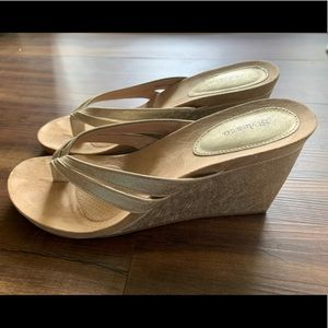 Gold Style & Co Wedges Size 10